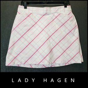 Lady Hagen Womens Plaid & Check Golf Skirt Skort